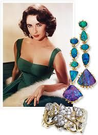 Elizabeth Taylor owned one of the most exclusive and most beautiful jewelry collections of all time.  Maintaining that all jewels are gifts from God-coming from the earth, she believed their beauty was not to be admired by just the wearer, but by all that came into their presence. www.tarafinejewelry.com, Atlanta.
