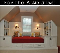 Use the space in your attic wisely with this spare bedroom! Excellent use of space and look at all the storage.