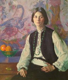 Ivan Olinsky (Russian-born American artist, 1878-1962) Young Woman