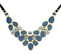 Joan Rivers Simulated Drusy Bib 18 Necklace w/3 Extender