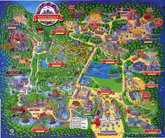 Alton Towers (map from 1994)  fun park in  Derbyshire, UK