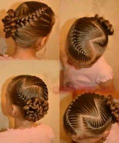 How I would want mine and my Lil princesses hair on my wedding day!!