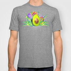 Everyone Loves Avocado! T-shirt by carlos lerma - $22.00