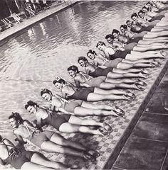 sunbathing in Palm Springs c1940s