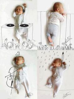 Love this hand drawn art on a photo