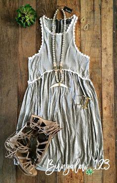 Pilcro Dress - Heather Gray (Pre-Order) - Bungalow 123 - 1