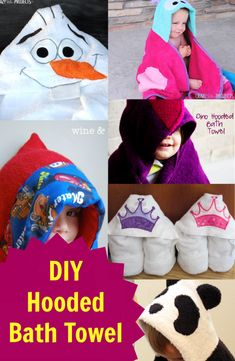 Today's DIY craft is very fun. I adore these very cute Hooded bath towel for my kids! I decided to create my kids some of these! You should try these as well and your kids will love it! Click here for tutorials: http://www.discountqueens.com/5-adorable-diy-hooded-bath-towel/