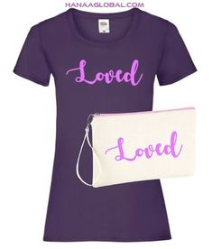 Trendy Loved Gift SetThis adorable gift set consists of the following items:1.Elegant Loved FRUIT OF THE LOOM LADIES RINGSPUN PREMIUM T-SHIRTThis soft t-shirt has an elegant loved design and makes a perfect gift for valentine.Fabric weight:195 gsmMaterial: 100% combed ringspun cotton.*Soft-touchCotton/Lycra® ribbed collarShoulder to shoulder self-fabric tapingShaped side seams60°C wash2.EpicLoved WESTFORD MILL Canvas wristlet po... Cute Gifts, Unique Gifts, Fabric Tape, Gift Sets, Fruit Of The Loom, Beige Color, Cute Designs, Valentine Gifts, Fabric Weights