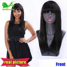 54.71$  Watch here - http://ali6ng.worldwells.pw/go.php?t=32703243281 - full lace human hair wigs with bangs long straight lace front wigs affordable human hair wigs glueless full lace human hair wigs