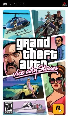 Grand Theft Auto Vice City Stories - Rockstar Games Grand Theft Auto: Vice City Stories (PSP) Vice City, Opportunity abounds in a city emerging from the swamps, its growth fueled by the violent power struggle in a lucrative drugs trade. Playstation Portable, Playstation Games, Nintendo 3ds, Wii, Xbox, Bikes Games, Sf Games, Grand Theft Auto Series, Riot Points