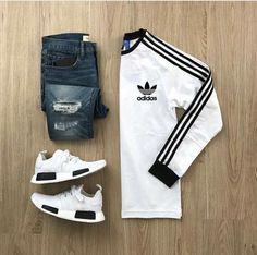 Casual, Adidas, Nmd, jeans, Adidas T-shirt .....