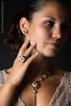 Ivana Brozova creation - set of polymer clay in vintage style