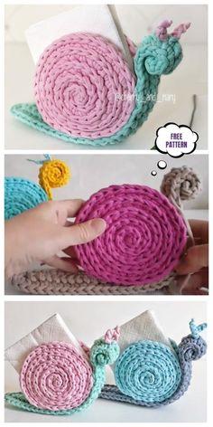 Incredibile Snail Napkin Holder Free Crochet Pattern – Video – Crochet Ideas - Uncinetto - Motivi Per Uncinetto Crochet Escargot, Crochet Snail, Crochet Mignon, Crochet Diy, Crochet Amigurumi, Crochet Motifs, Crochet Gifts, Amigurumi Patterns, Knitting Patterns