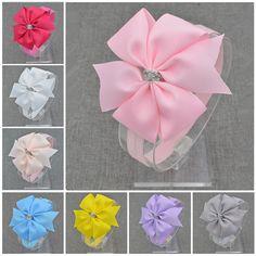 2016 Brand New Baby Silver Bow Fascia Dei Capelli Bowknot Fasce Ragazze Archi Della Fascia Del Bambino Headwear Infantile Accessori Per Capelli