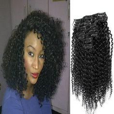 Mega Hair Tic Tac Encaracolado Cabelo Humano 46 cm 80 gramas #1B Preto Natural //Price: $199.00 & FREE Shipping