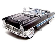 1955 Packard Caribbean Convertible Black 1/18 Diecast Model Car by Road Signature   Car Intensity
