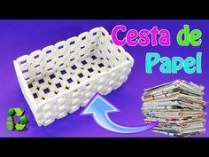 Cesta de papel periódico | Manualidades