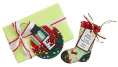 sweet gift tags from fabric scraps