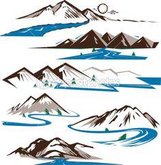 стилизованные горы - Поиск в Google