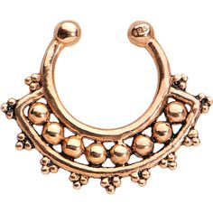 Look At Me Rose Gold Plated 925 Sterling Silver Clip On Septum Ring | Body Candy Body Jewelry