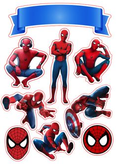 3 D Bilder Spiderman Movie Free Printable Cake Toppers. - Oh My Fiesta! for Geeks Wedding Bouquet - Spiderman Torte, Spiderman Cupcake Toppers, Cupcake Toppers Free, Spider Man Party, Spiderman Stickers, Avengers Birthday, Spiderman Birthday Cake, Oh My Fiesta, Superhero Party