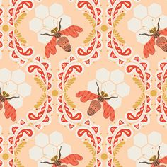 Bee Sweet Sunset from Sweet as Honey by Bonnie by chitchatfabrics