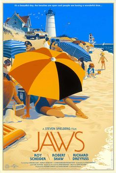 """Often considered the first modern summer blockbuster, Jaws was released in 1975 and became a breakthrough for director Steven Spielberg. With mostly TV work under his belt, Spielberg reteamed with Richard D. Zanuck, the producer of his first film, The Sugarland Express.However, many production difficulties on the film stemmed from the malfunctioning mechanical sharks, nicknamed """"Bruce."""""""