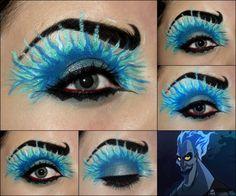 Well have Halloween on Christmas. - Imgur Disney Character Makeup, Disney Villains Makeup, Disney Eye Makeup, Disney Inspired Makeup, Eye Makeup Art, Sexy Makeup, Eye Art, Fun Makeup, Awesome Makeup