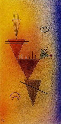 'peu jeu', huile de Wassily Kandinsky (1866-1944, Russia)