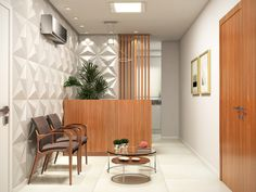 Office Reception Design, Small Office Design, Modern Small House Design, Dental Office Decor, Medical Office Design, Home Office Decor, Clinic Interior Design, Clinic Design, Modern Interior Design