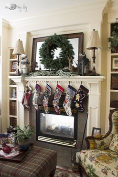 Hearth Room Mantel Decorating at Me and My DIY- love this