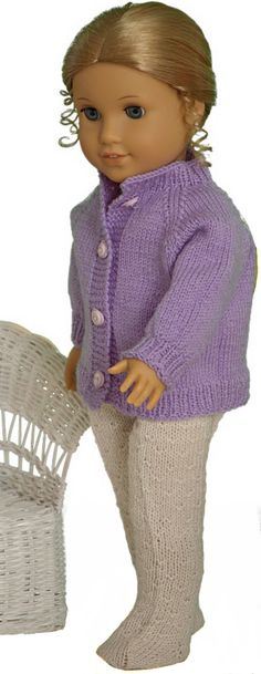 38 Ideas Doll Clothes Patterns 18 Inch American Girls For 2019 Knitted Doll Patterns, Doll Dress Patterns, Knitted Dolls, Knitting Patterns, Knitted Baby, Crochet Patterns, American Girl Outfits, American Doll Clothes, American Girls