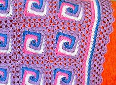 As Receitas de Crochê: Square de crochê em espiral