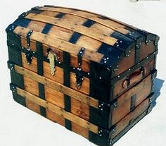 This Old Trunk - Quality Antique Trunks, Restoration, Antique Trunks, Chests and Fine Antique Trunks and More. Old Trunks, Vintage Trunks, Trunks And Chests, Antique Trunks, Wooden Trunks, Old Chest, Antique Chest, Vintage Suitcases, Vintage Luggage