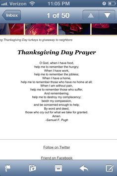 Thanksgiving prayer courtesy of the simple way. Rasberry Salad, Thanksgiving Poems, Help Me, Simple Way, Prayers, Holidays, Holidays Events, Holiday, Prayer