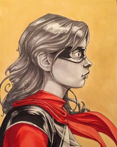 Ms Marvel Kamala Khan copic marker portrait