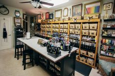 Studio - Scrapbook.com - Scrapbook.com founder Jill Davis' incredibly organized craft studio.