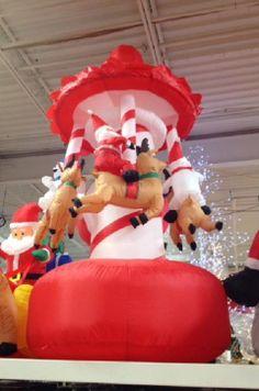 Santa Carousel Snowman Penguin Animated Christmas Inflatable New