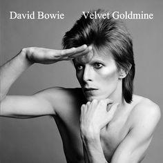"""David Bowie """"Velvet Goldmine"""" CD cover design (front)"""