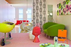 Colorful Interior Design; Vivid Color and Patterns : Colorful Loft By Karim Rashid Thorough Design Beautiful Interior