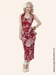 1940s Sarong Floral form Vivien of Holloway