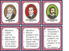 Fact filled cards for every U.S. president