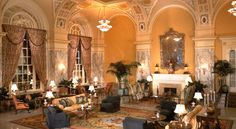 The Hermitage Hotel. A luxurious 5 star hotel.  Inside is the wonderful Oak Bar, perfect for a quiet nightcap.