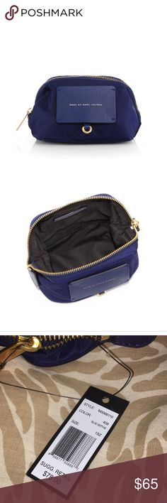 Marc by Marc Jacobs makeup bag Blue nylon and leather makeup bag with tags!! Marc By Marc Jacobs Bags Cosmetic Bags & Cases