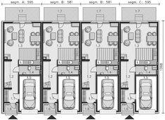 Projekt domu Miltown II LMS12a 103,18 m2 - koszt budowy 194 tys. zł - EXTRADOM Japan House Design, My Home Design, Townhouse Exterior, Narrow House Designs, Tiny House Village, Architectural Floor Plans, Future Buildings, Townhouse Designs, Shophouse