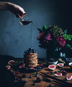 Rich Fig Pancakes.
