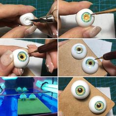 eyes - super tutorial with fimo clay. Bjd Doll, Ooak Dolls, Art Dolls, Polymer Clay Dolls, Polymer Clay Crafts, Sculpting Tutorials, Doll Eyes, Clay Figures, Doll Tutorial