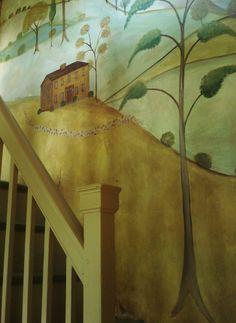 Beautiful hallway mural - shades of Rufus Porter
