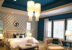 Fantastic space designed by Trent Hultgren of Cabana Casa featuring our ever-popular Moorish Trellis Stencil.