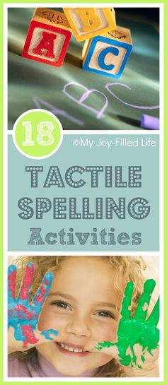 18 Tactile Spelling Activities. Repinned by SOS Inc. Resources pinterest.com/sostherapy/.